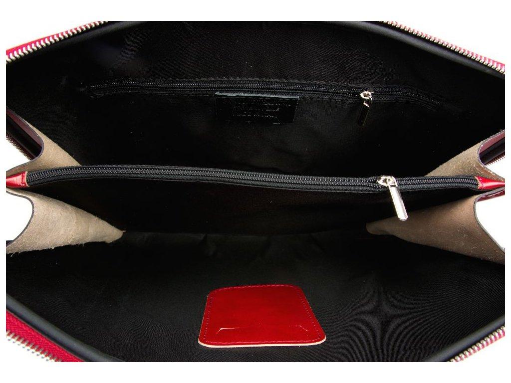3c6ce756e3 Kožená taška na notebook Esme červená - Blaire shop