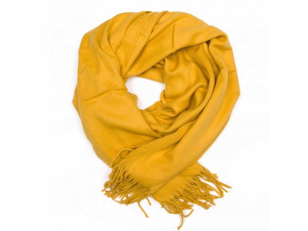 Dámská šála Berta hořčicově žlutá