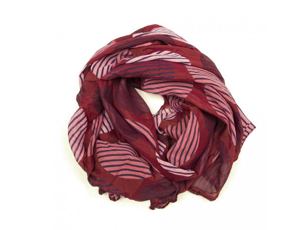 Dámský šátek Tona bordó
