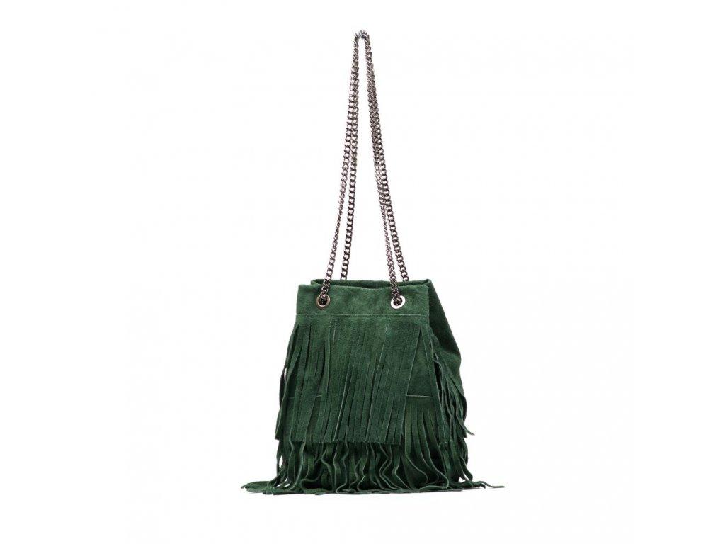 Kožená kabelka Naima zelená