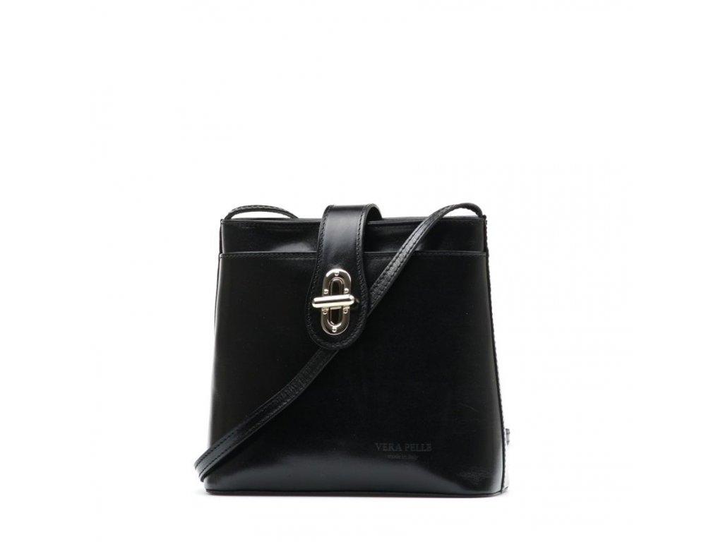 Kožená crossbody kabelka Claire černá