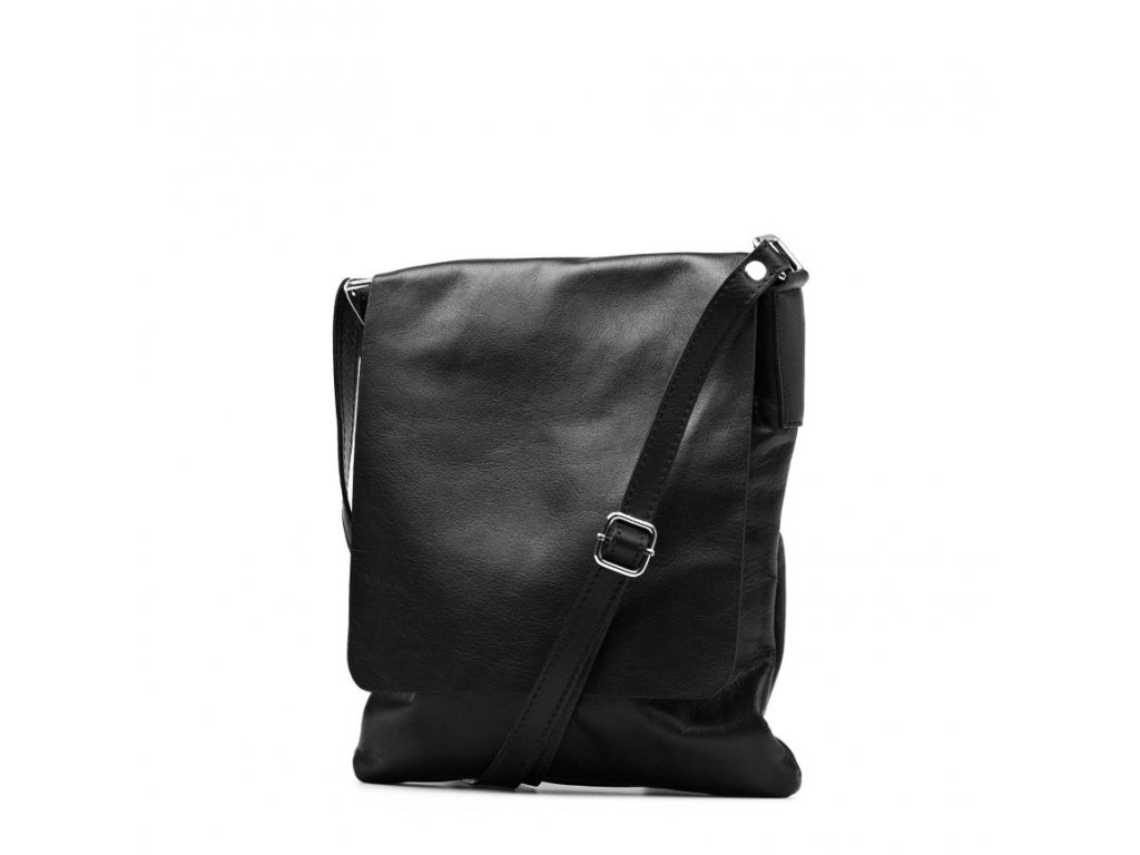 Kožená crossbody kabelka Lucia černá