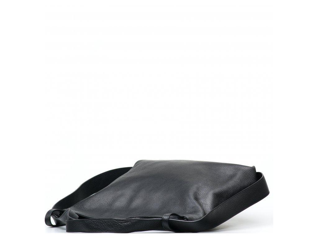 Kožená kabelka - batůžek Giada černá