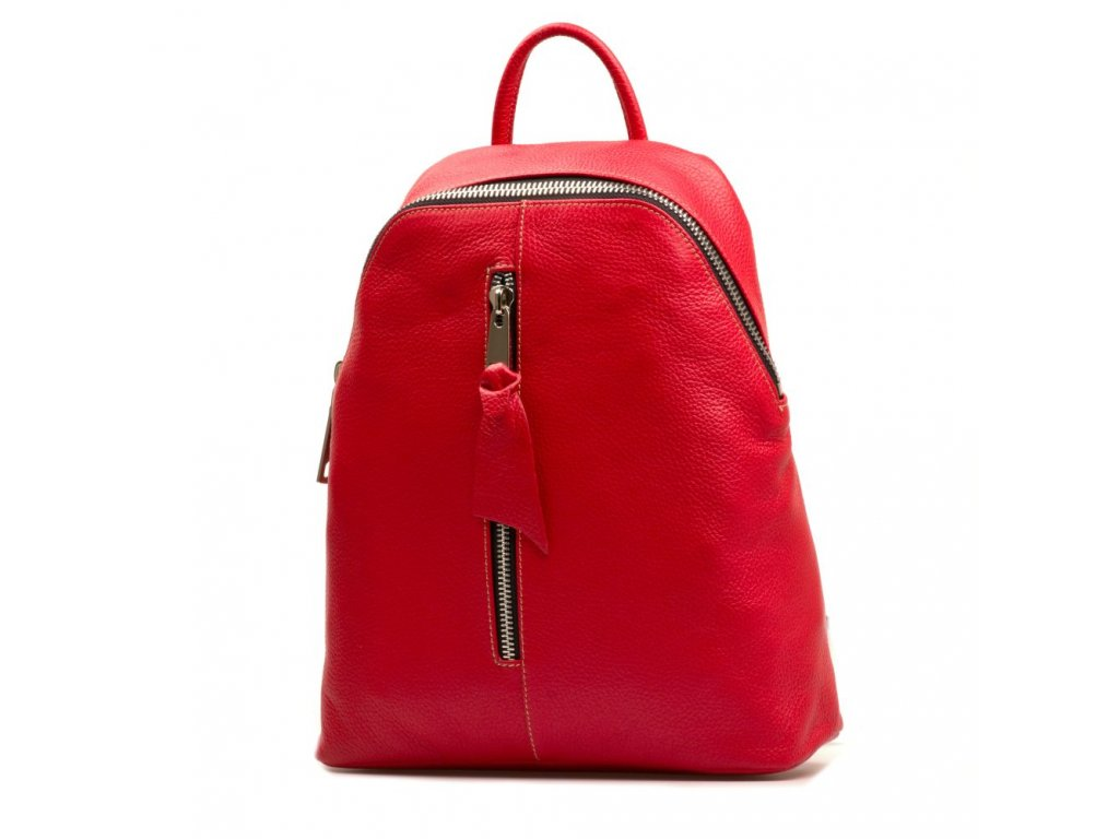 Kožený batůžek Alberto červený