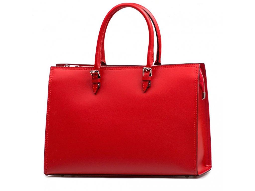 Kožená kabelka Siria červená