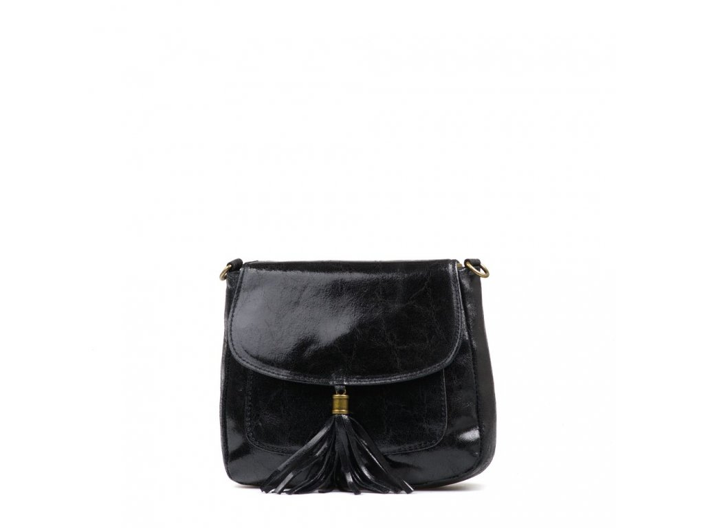 Kožená crossbody kabelka Nella černá