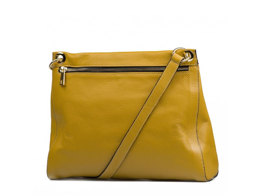Kožená kabelka Rita hořčicově žlutá