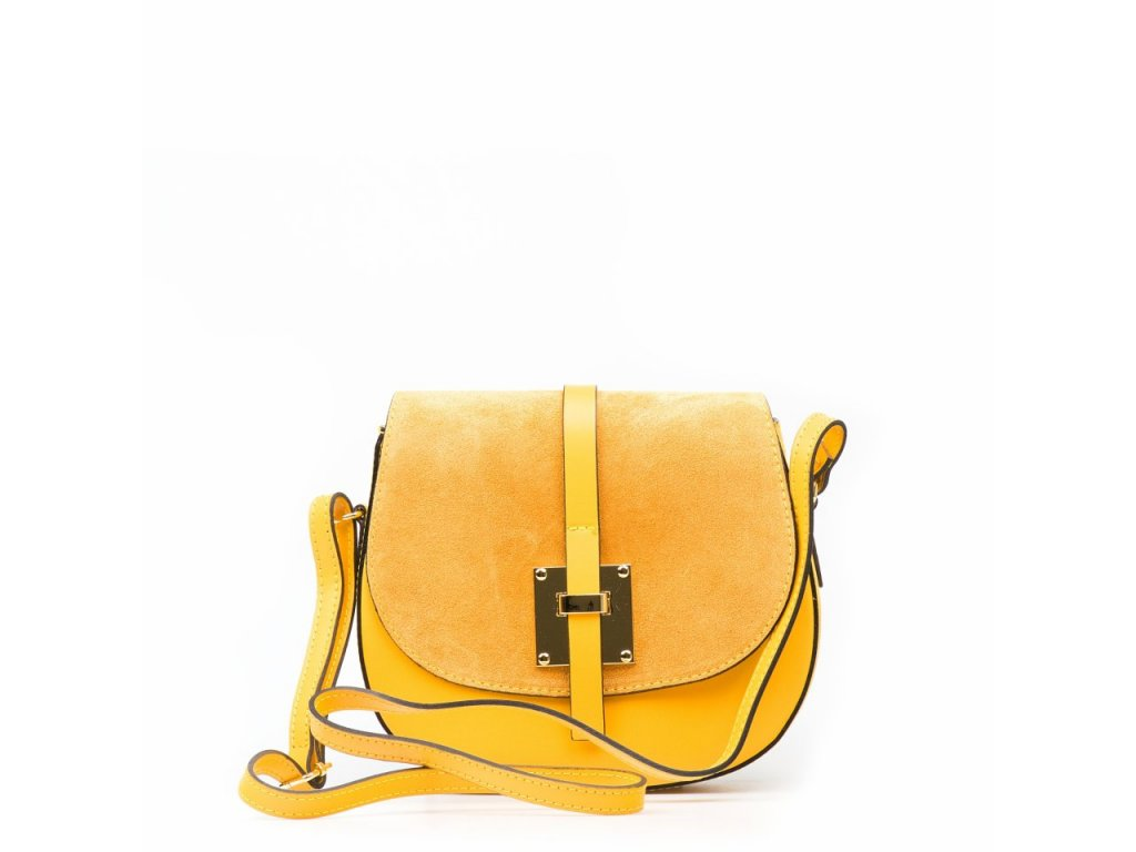 Kožená crossbody kabelka Annis žlutá