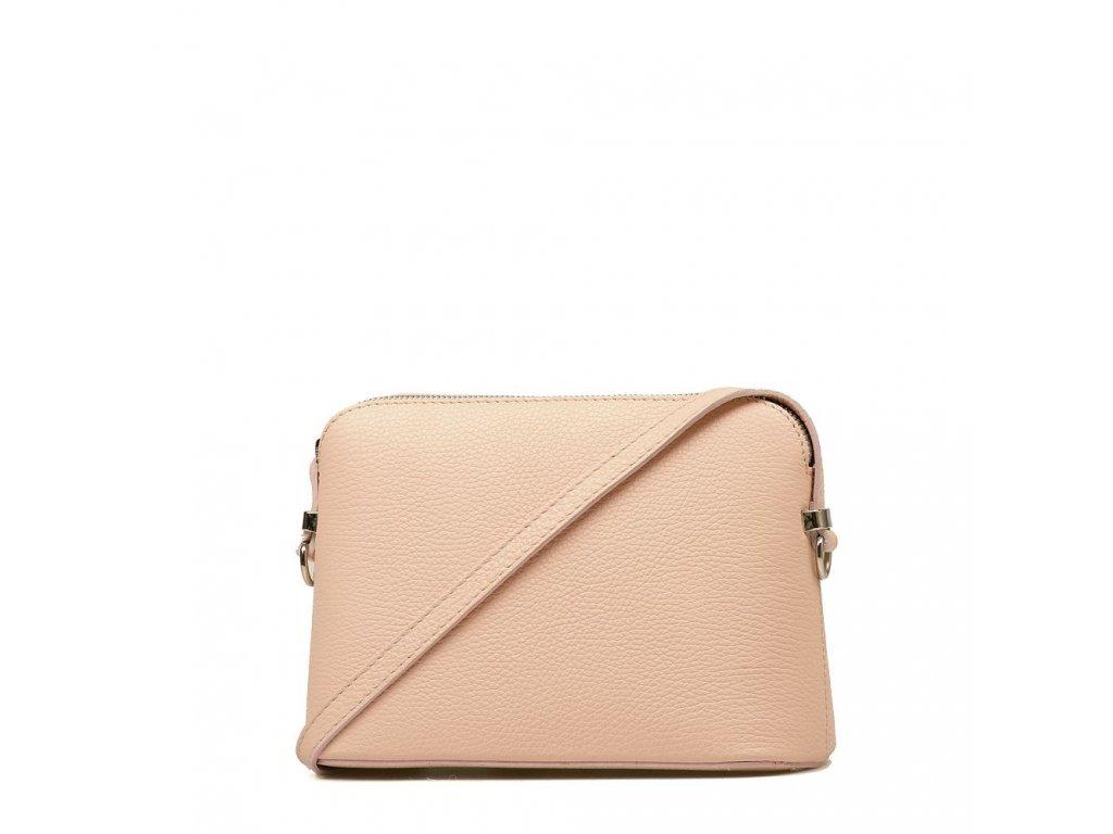 Kožená kabelka Violeta růžová