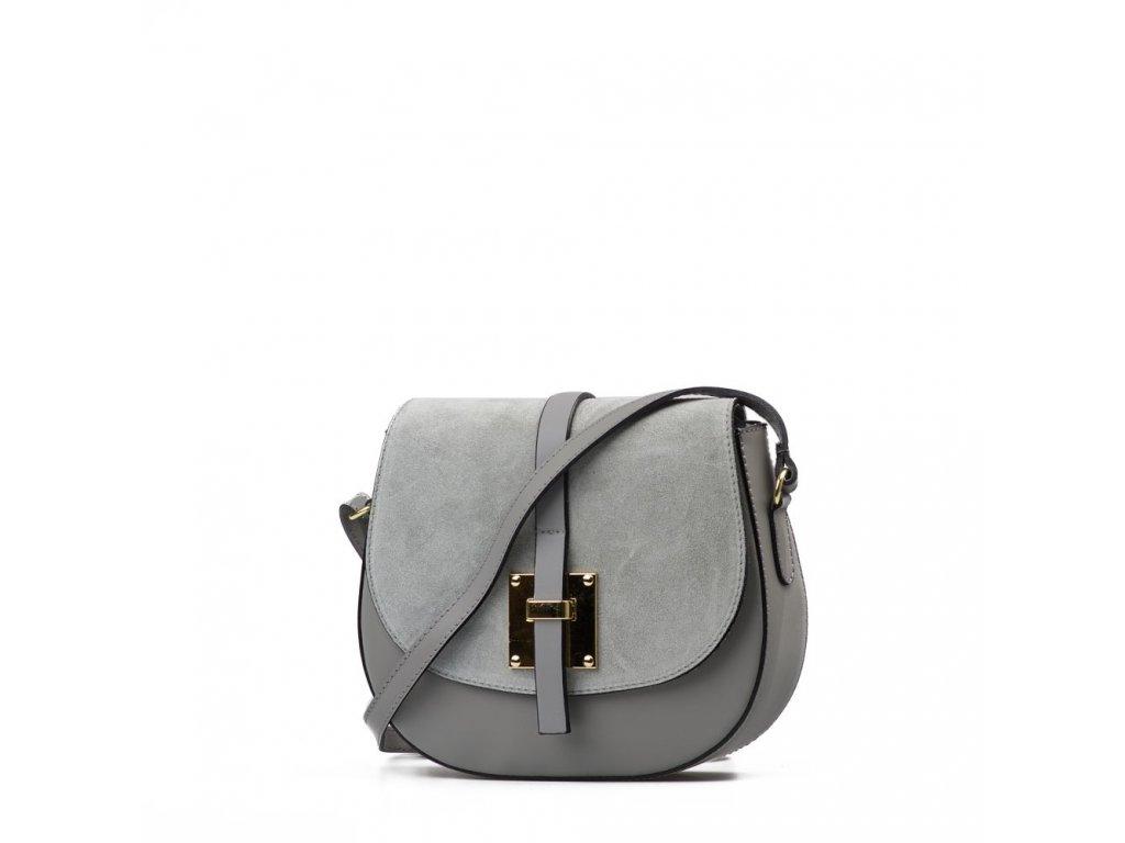 Kožená crossbody kabelka Annis šedá