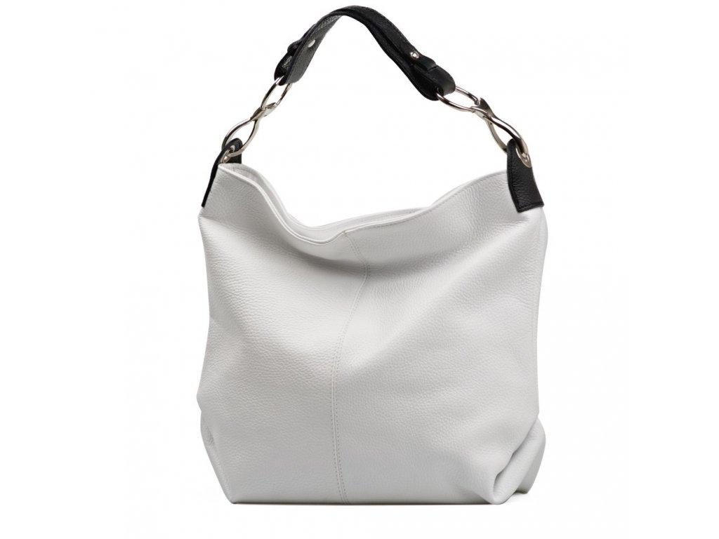 Kožená kabelka Cira bílá