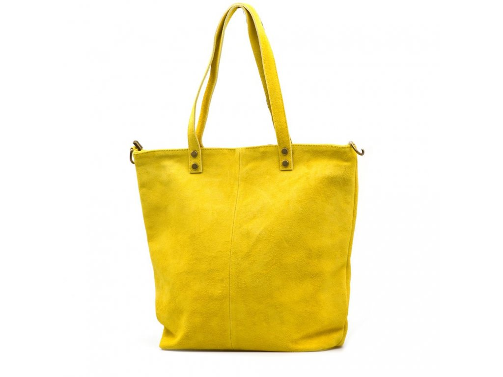 Kožená kabelka shopper Luna žlutá