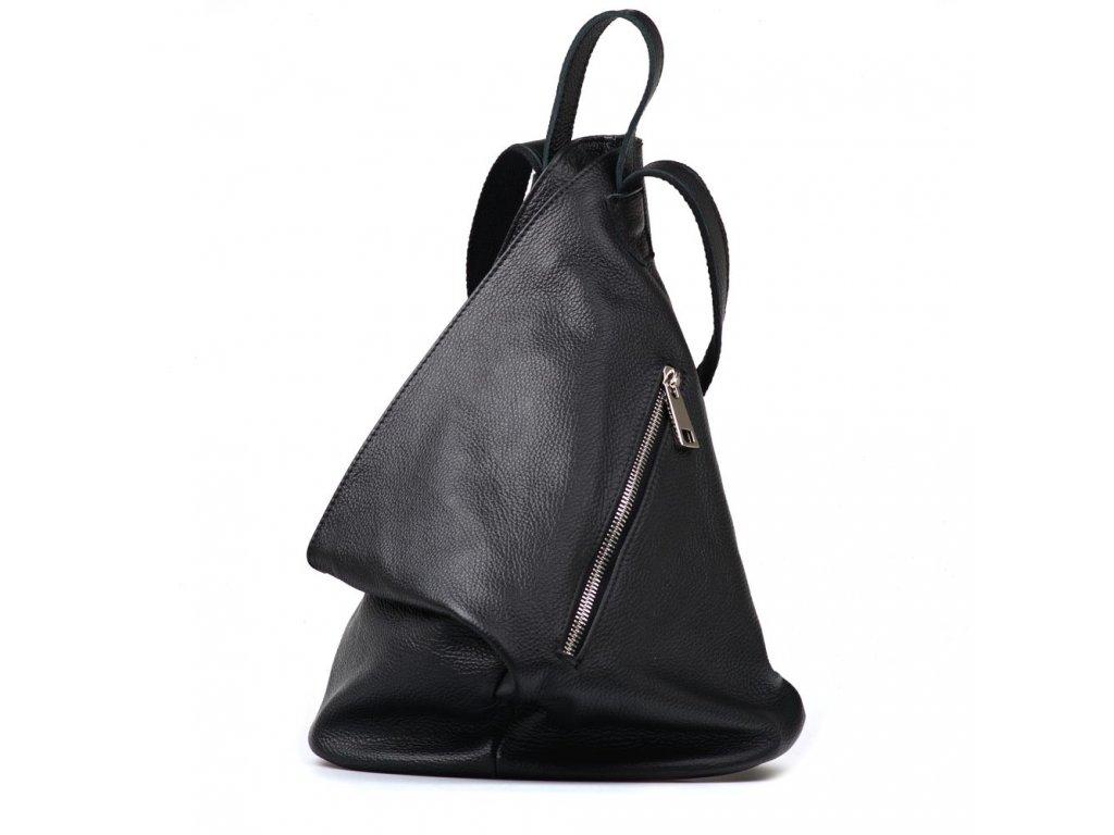 Kožený batůžek Dania černý