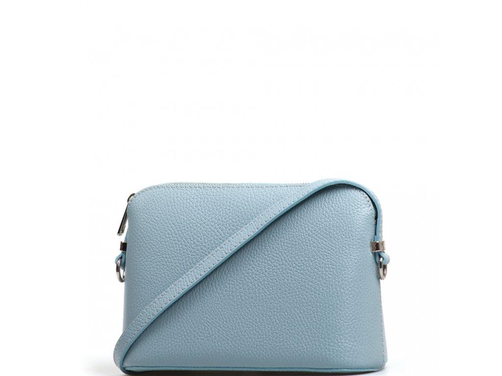 b9f4b5ec832e Kožená crossbody kabelka Violeta světle modrá - Blaire shop