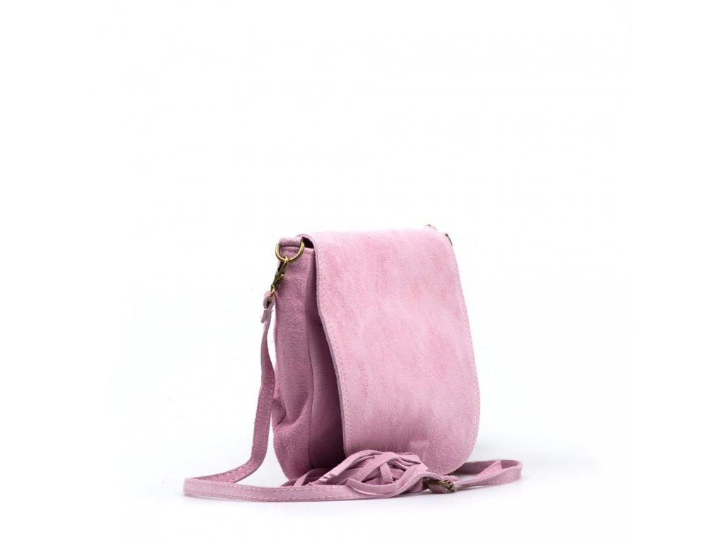Kožená crossbody kabelka Mirea růžová - Blaire shop 19ea13de06