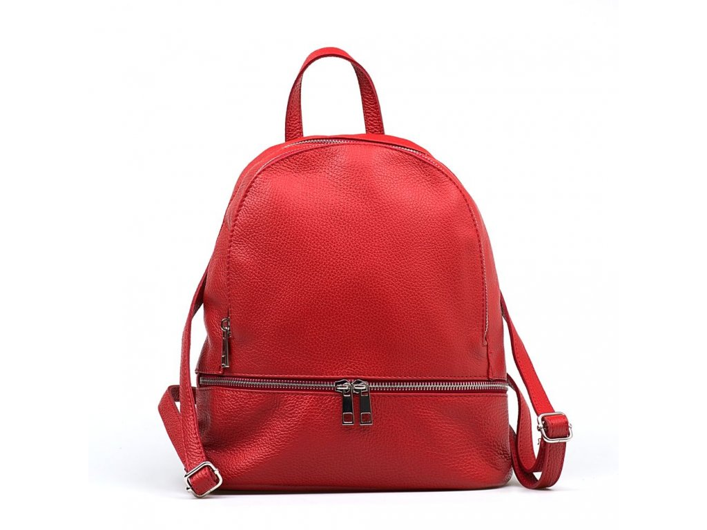 Kožený batůžek Zula červený