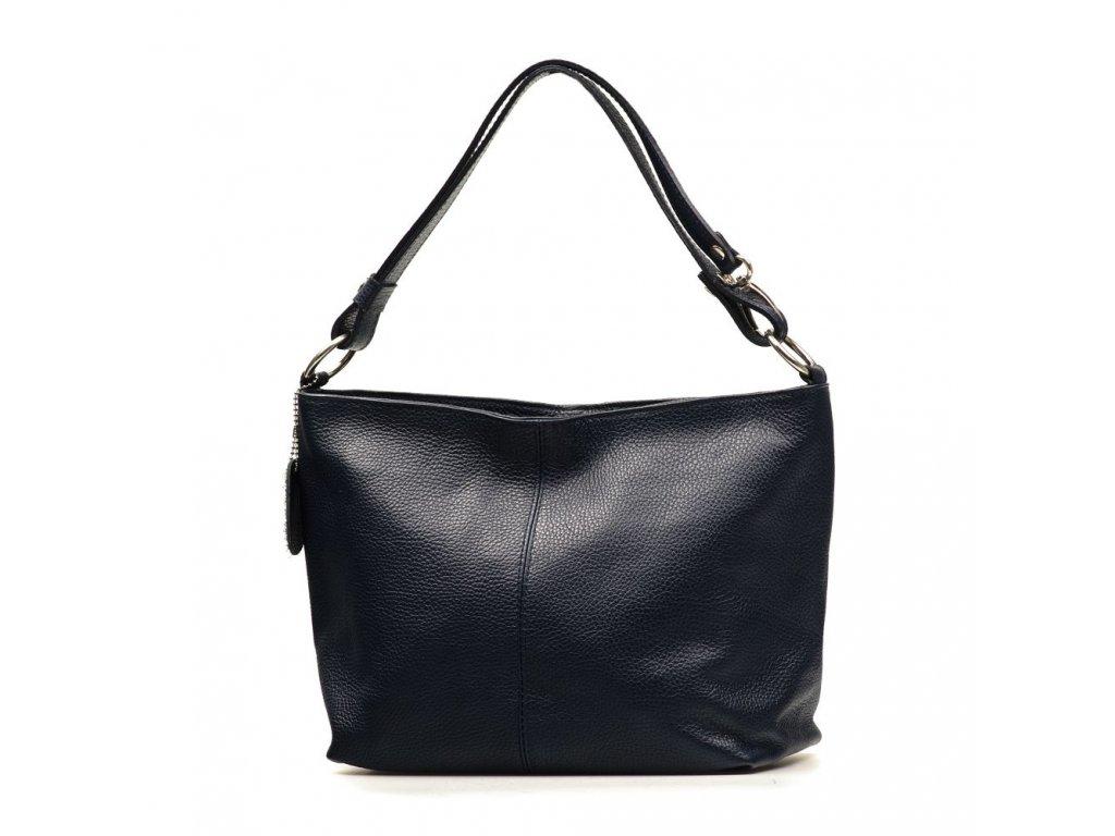 Kožená kabelka Lorela tmavě modrá