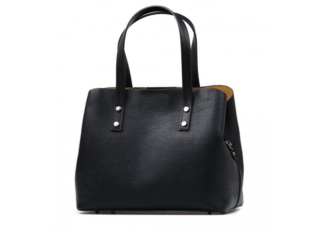 Kožená kabelka Fabia černá