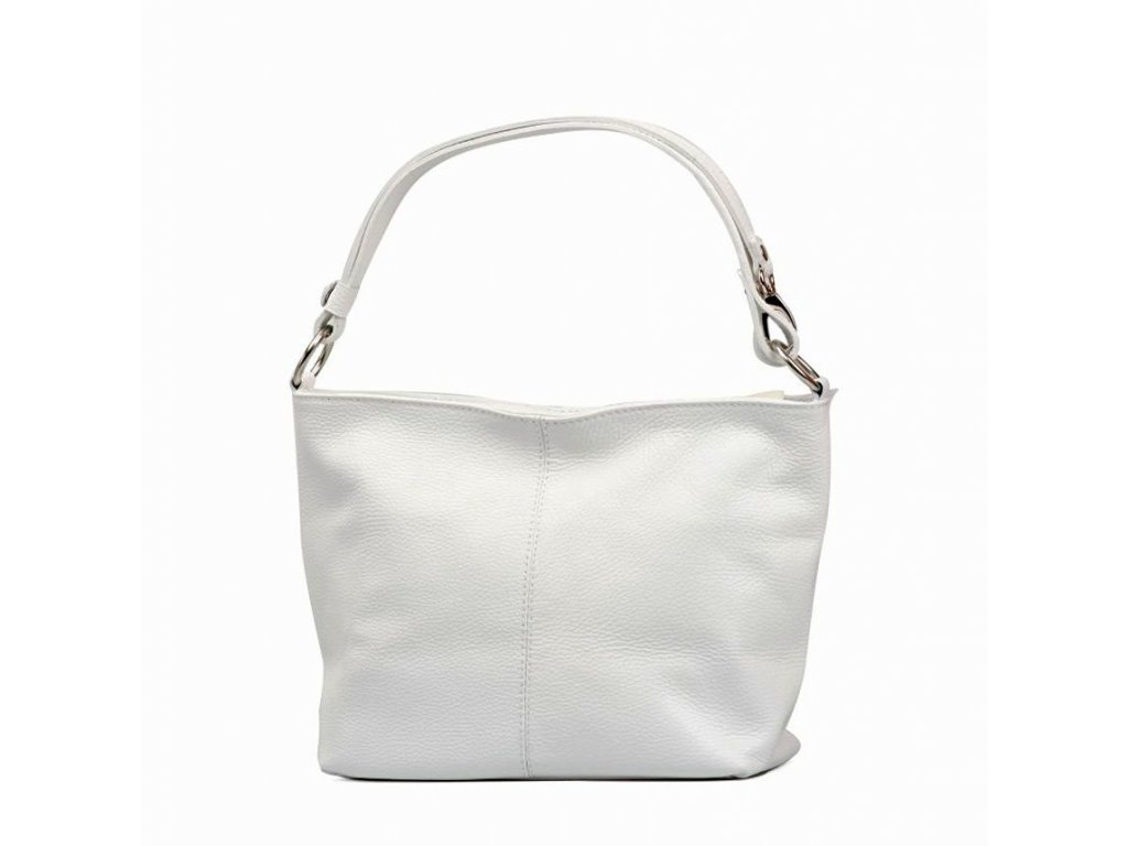 Kožená kabelka Lorela bílá