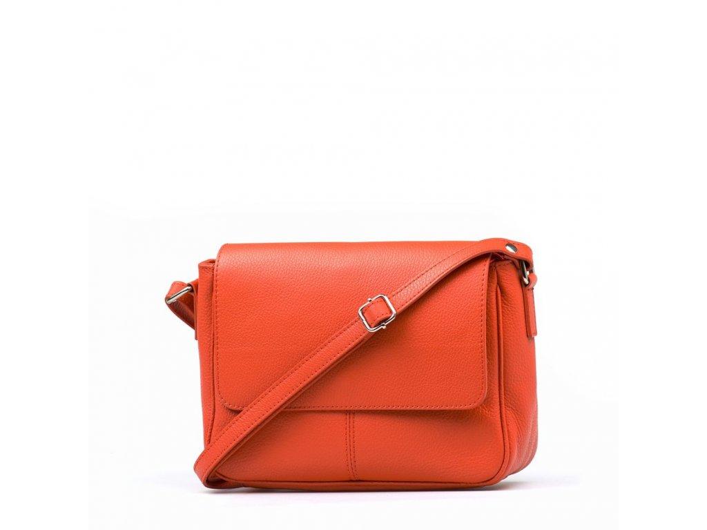 Kožená crossbody kabelka Marion oranžová