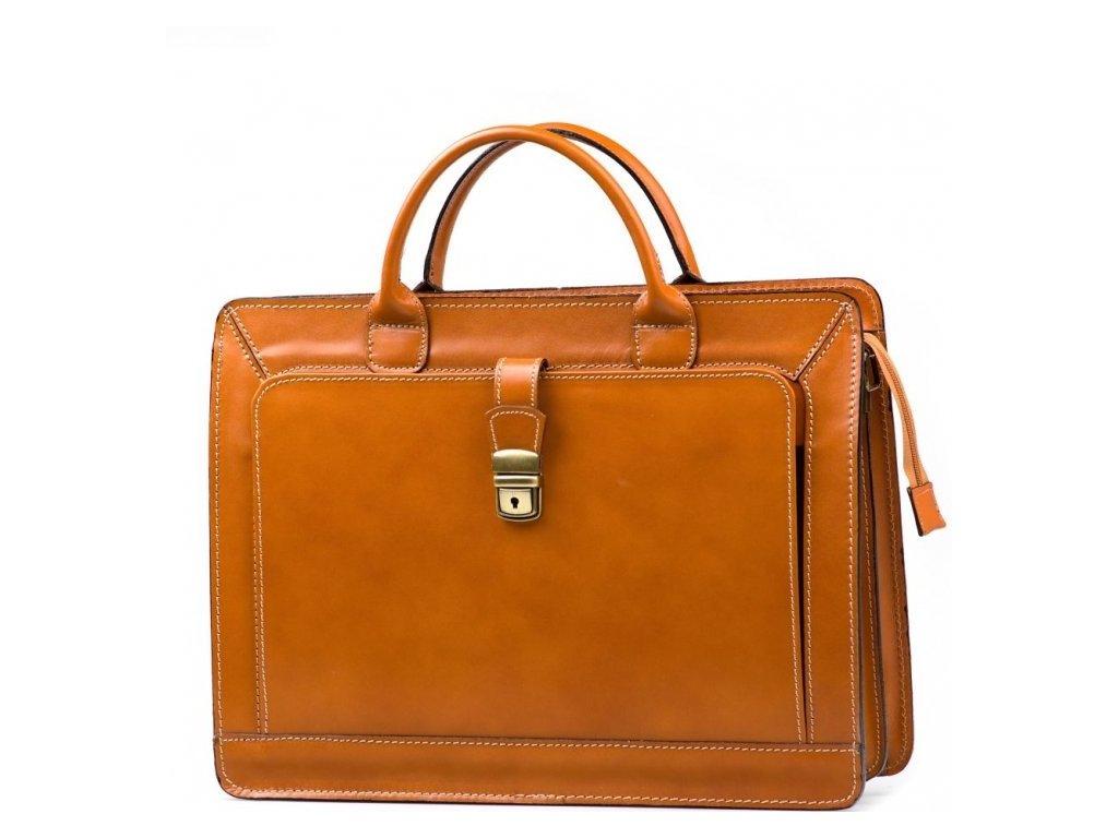 Pánská kožená pracovní taška Firenze koňaková