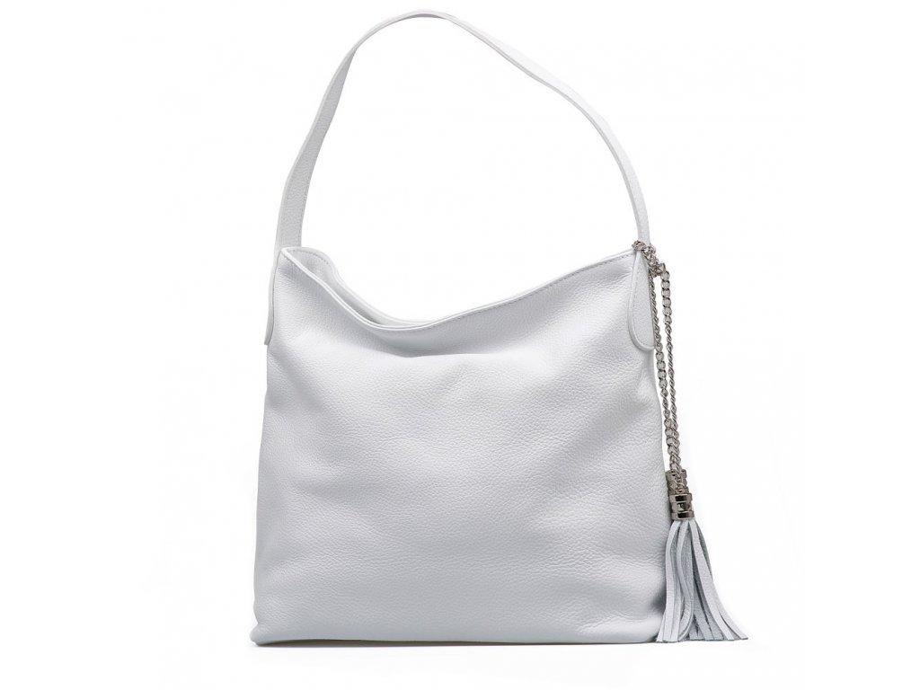 Kožená kabelka Dilia bílá
