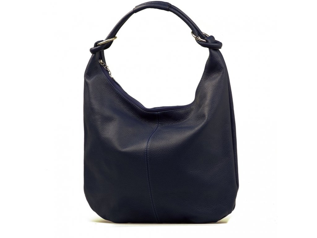 Kožená kabelka Elisa modrá