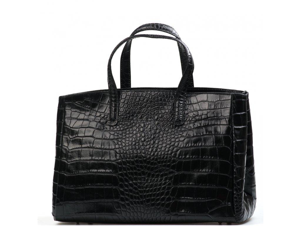 Kožená kabelka Natalia černá