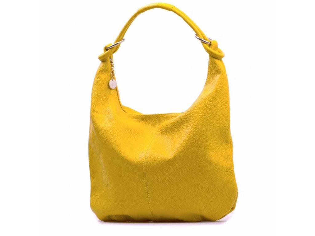 Kožená kabelka Elisa žlutá