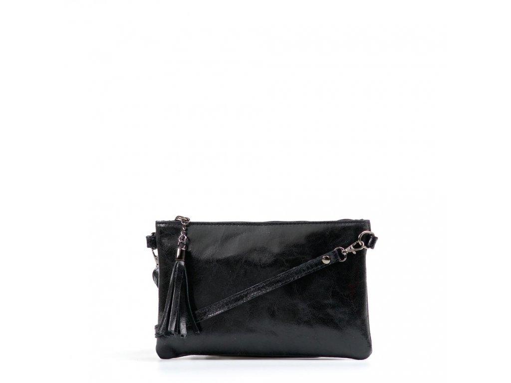 Kožená crossbody kabelka Enila černá