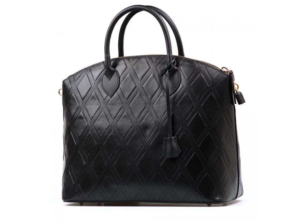 Kožená kabelka Giorgia černá