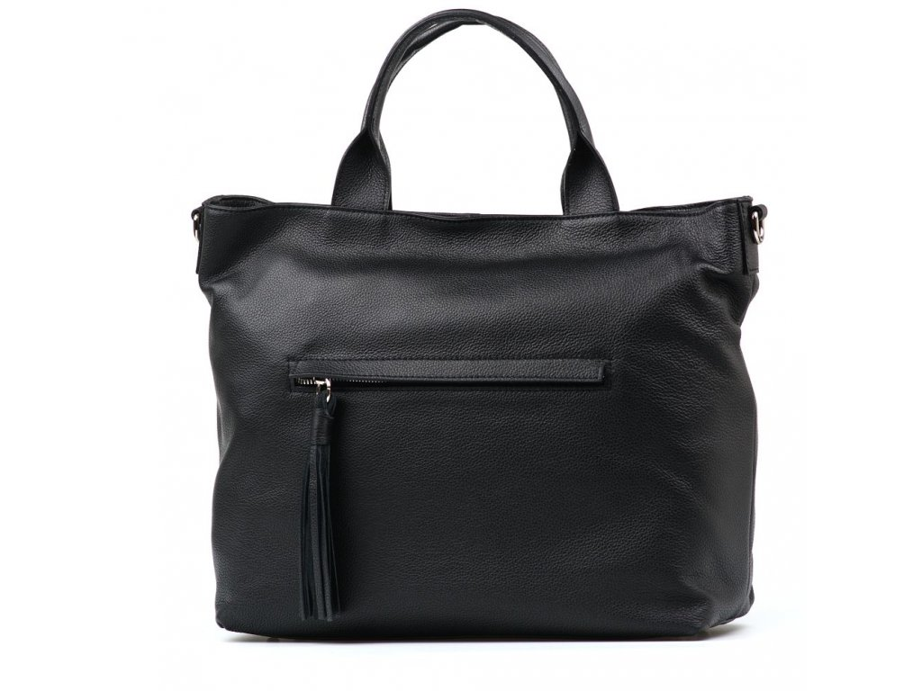 Kožená kabelka Viola černá