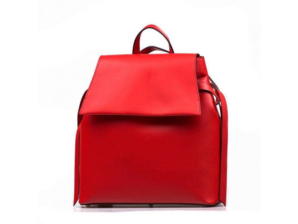 Kožený batůžek Belen červený