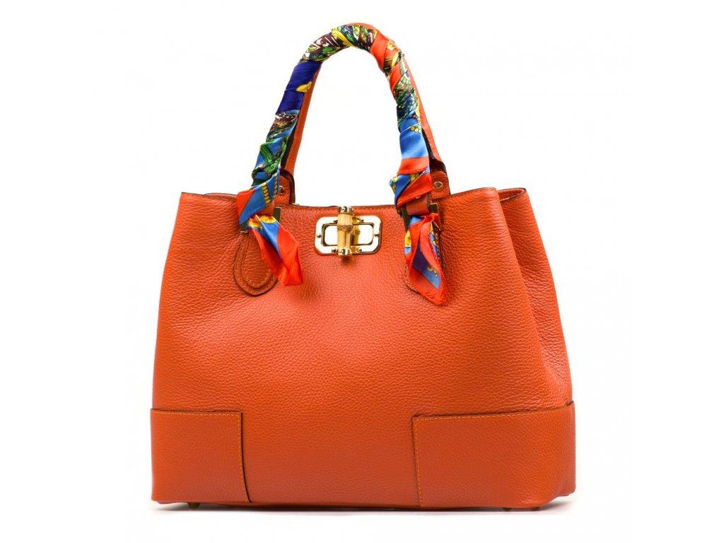 Kožená kabelka Feria oranžová