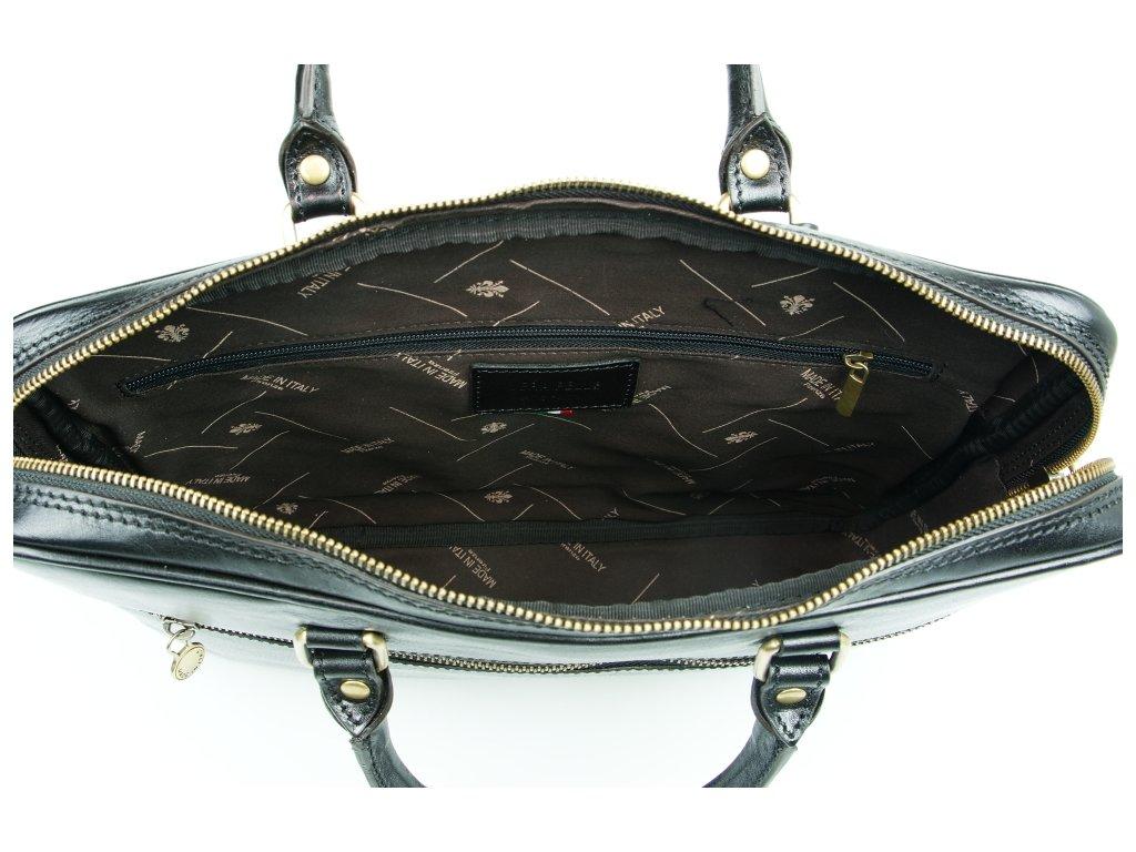 Kožená pracovní taška Onda černá