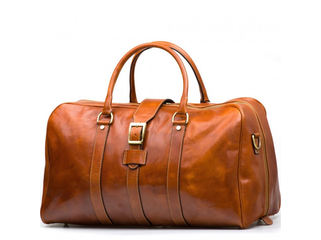 Kožená cestovní taška Modena koňakově hnědá