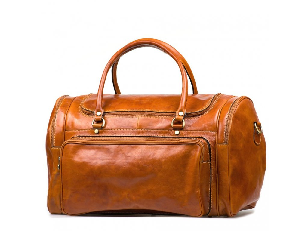 Kožená cestovní taška Vienna koňakově hnědá