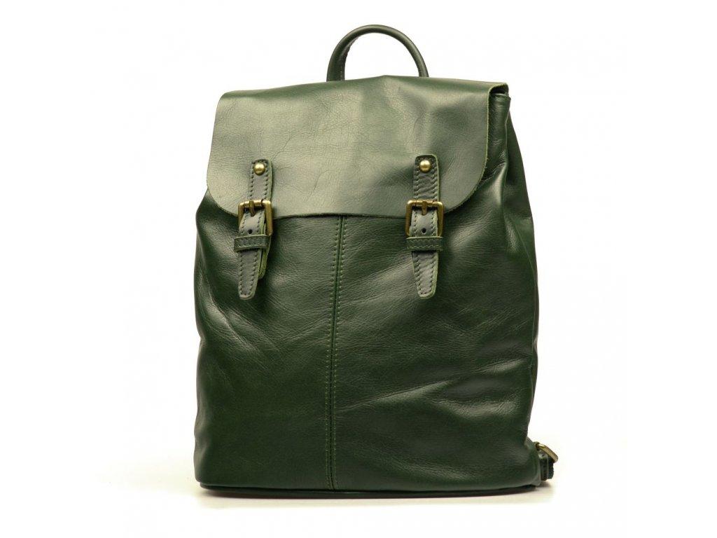 Kožený batůžek Summer zelený