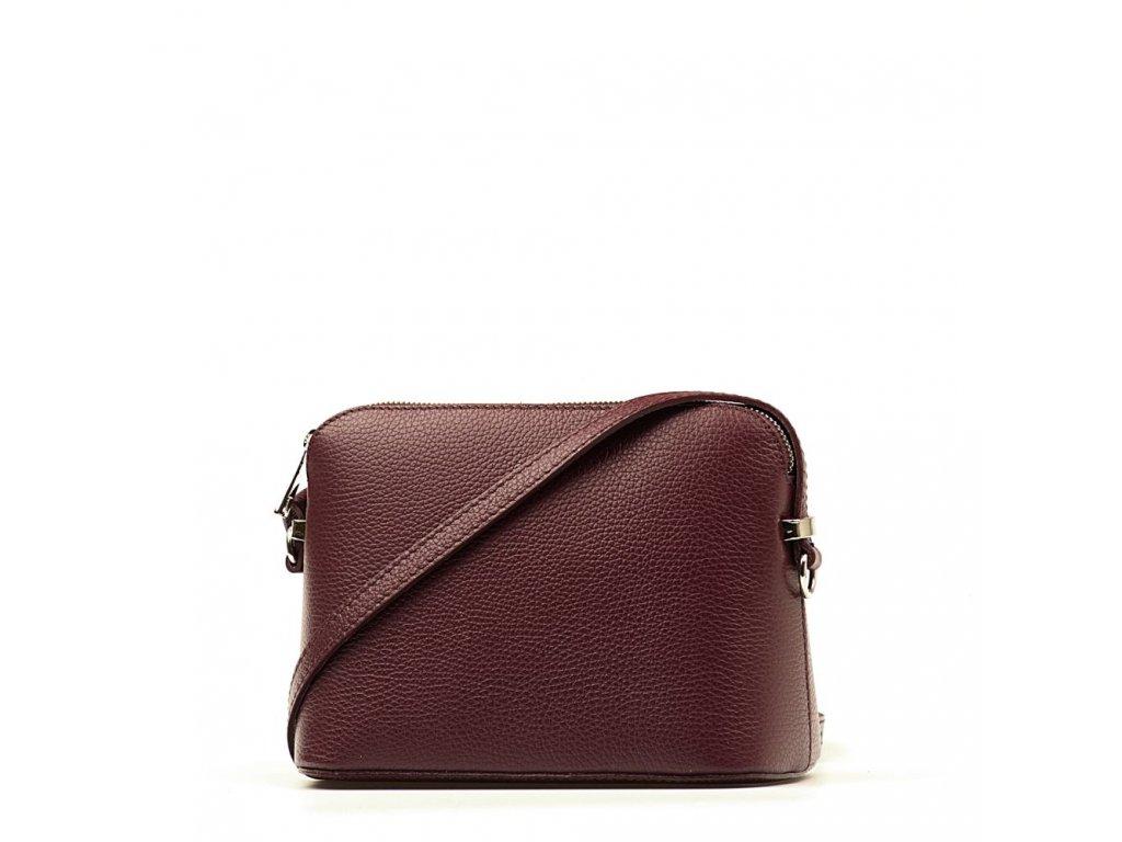 Kožená crossbody kabelka Violeta bordó - Blaire shop e56430f9939