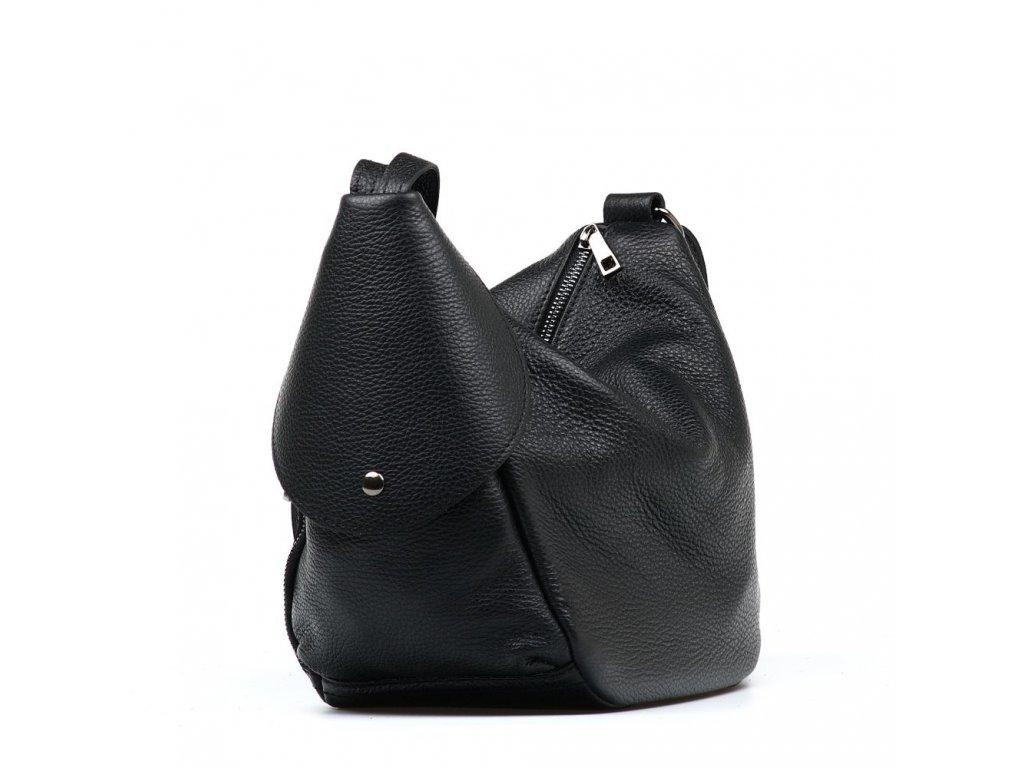 Kožená kabelka - batůžek Tianna černá