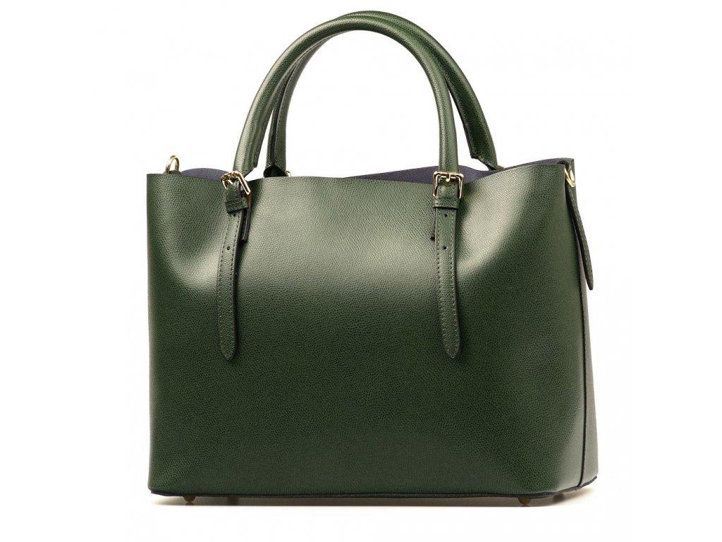 Kožená kabelka Emma s červenou kapsou zelená - Blaire shop 221f1dd0c68