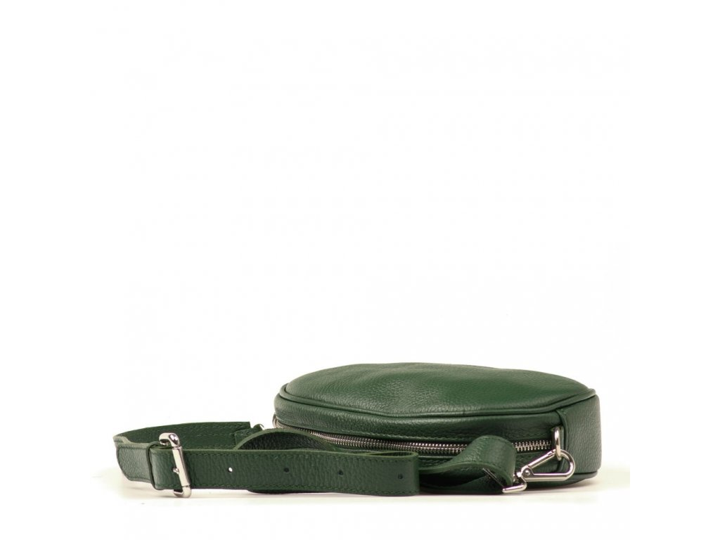 Kožená ledvinka - crossbody kabelka Michela zelená - Blaire shop 1440e4cb22d