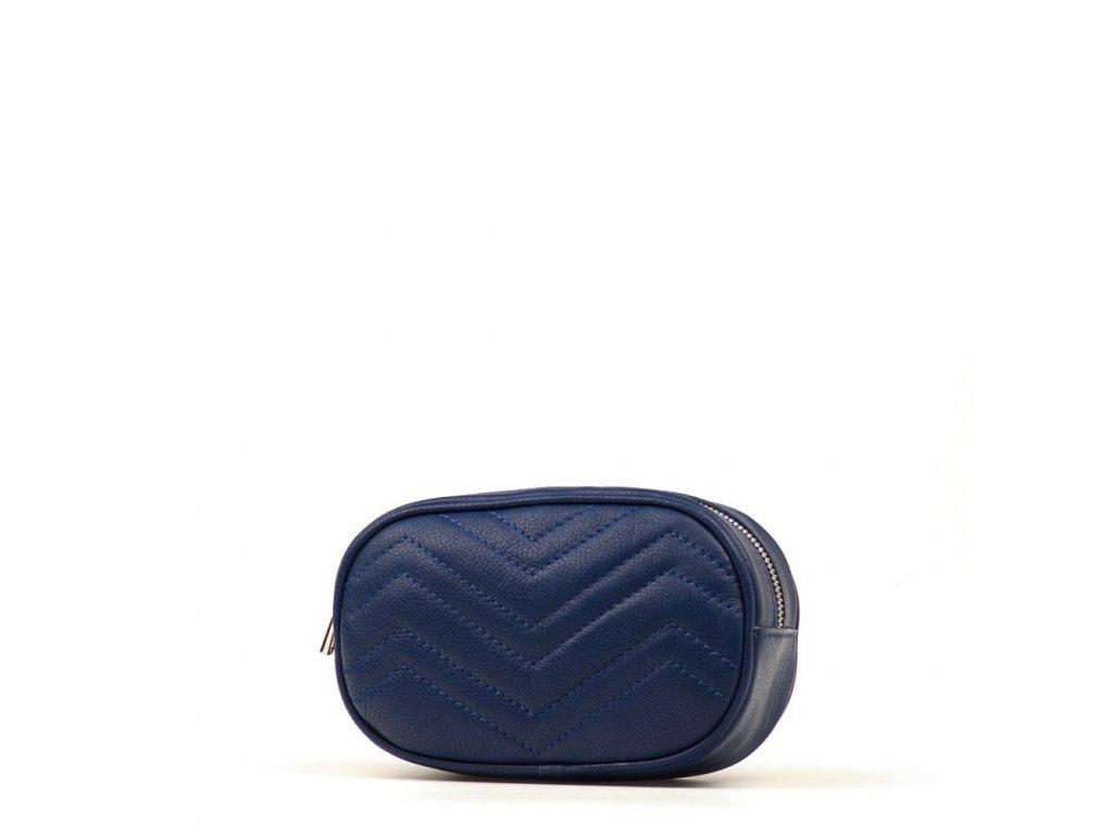 Kožená ledvinka Paola džínově modrá