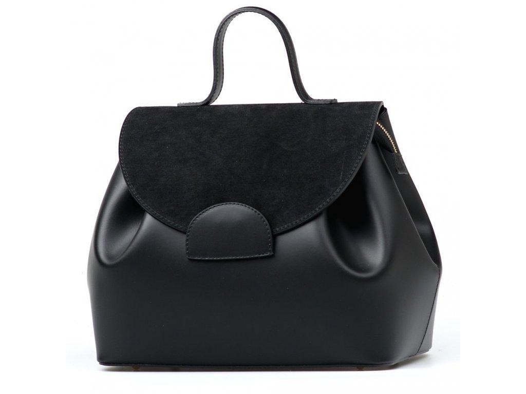 Kožená kabelka Tilly černá