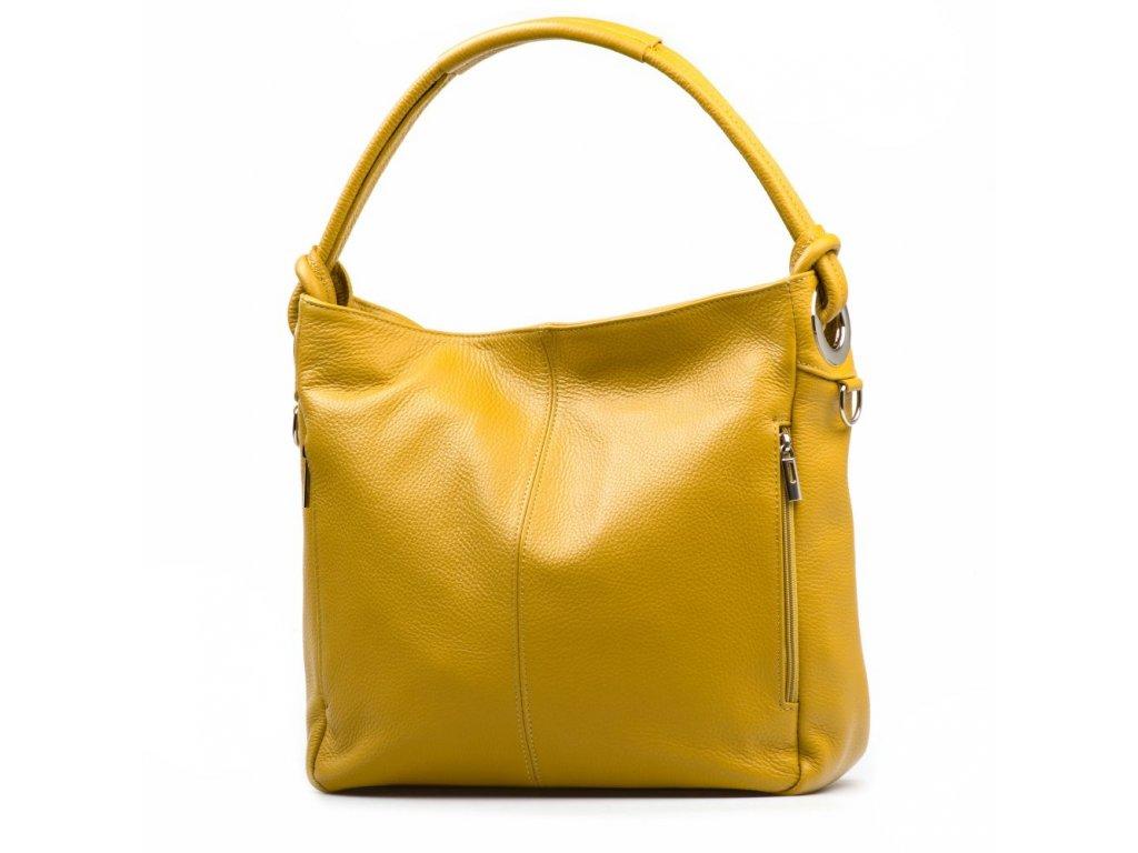 Kožená kabelka Acilia hořčicově žlutá