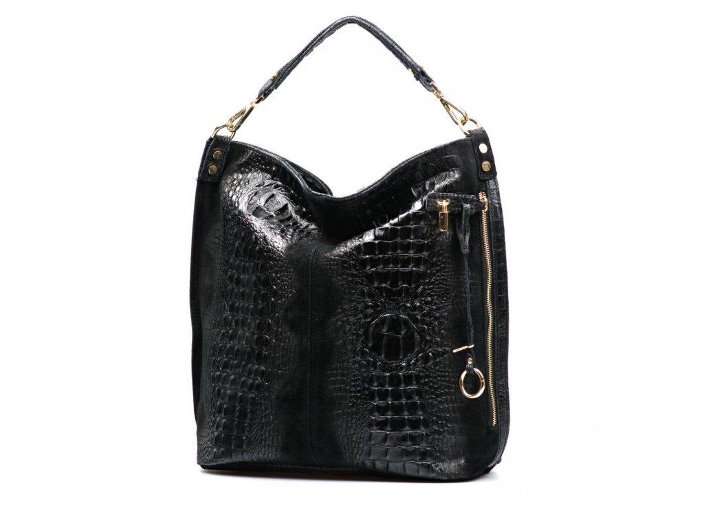 Kožená kabelka Luisa černá