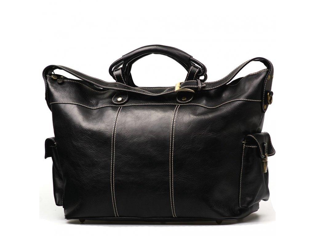 Kožená cestovní taška Bora černá