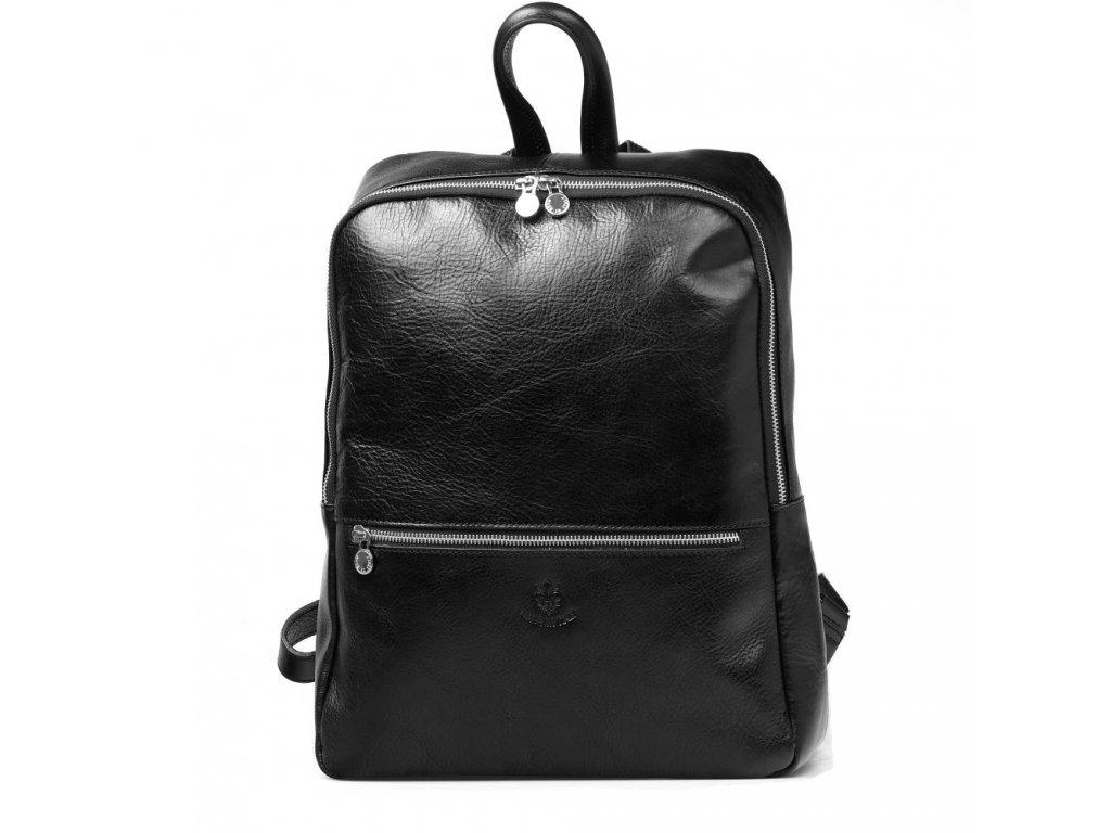 Pánský kožený batoh Luigi černý