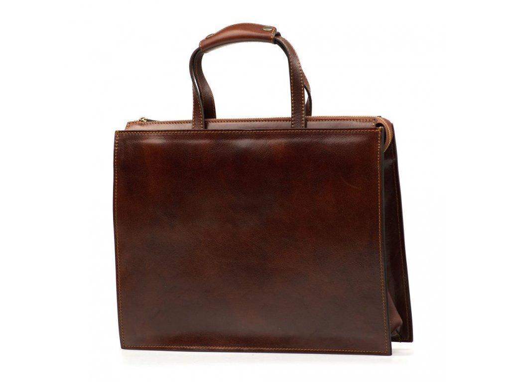 Kožená pracovní taška Luca hnědá