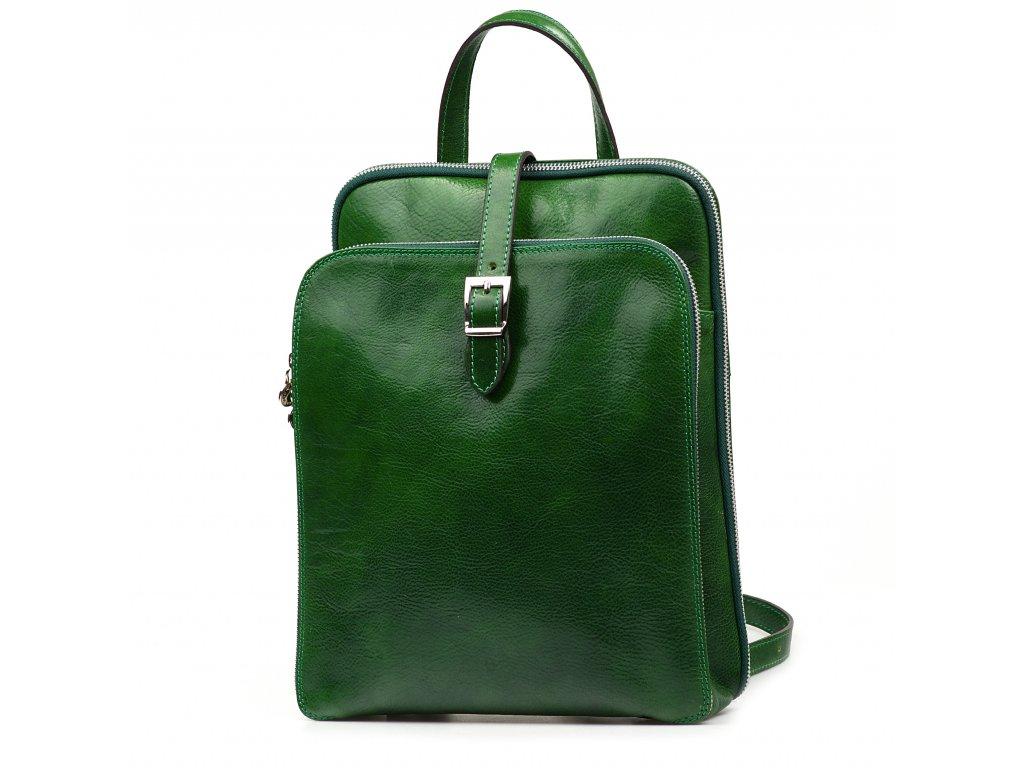 Kožený batůžek Zanda zelený